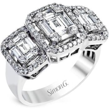 "Simon G. Three Stone ""Simon Set"" Mosaic Diamond Baguette Ring"