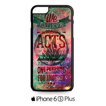 colorful divergent quotes galaxy nebula iPhone 6S  Plus  Case