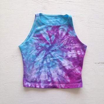 Pastel Tie Dye Crop Top Size XS Rave from nostalgicusa on Etsy df077756d489
