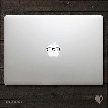 Geeky glasses Macbook Decal by geekydecals on Etsy