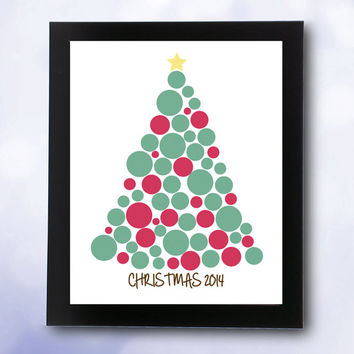Christmas Guest Book INSTANT DOWNLOAD decor guestbook signature / printable pdf / xmas decorations ideas tree sign in children merry holiday