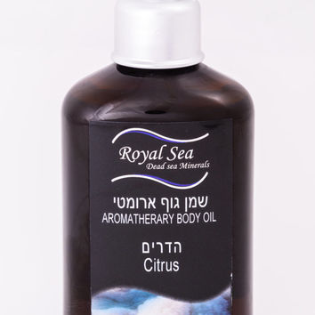 Royal Sea Dead Sea Massage Works natural Aromatherapy Almond Body OIL Citrus Fragrance 150ml/5.1oz