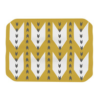 "Pellerina Design ""Golden Aztec"" Yellow White Place Mat"