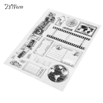 Romantic Vintage Transparent Rubber Clear Stamp Scrapbooking Craft Sheet Card Set DIY Photo Album Account Transparent Silicone