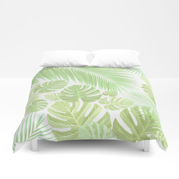 Pastel colors jungle Duvet Cover by exobiology