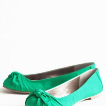 simply lucky bow flats at ShopRuche.com