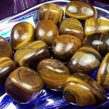 """TIGER'S EYE or """"Cat's Eye"""" - Ancient Celtic Stone of Wealth, Good Luck & Protection Against The Evil Eye"""