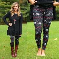 Winter Flurries Patterned Leggings