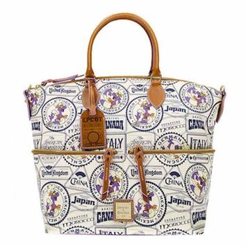 Disney Parks 2017 Food & Wine Figment Passholder Dooney & Bourke Tote New Tags