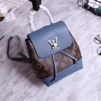 Lv Louis Vuitton Women's Small Monogram Leather Backpack Bag