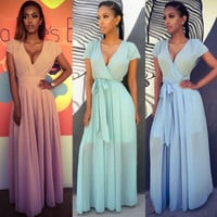 2017 Trending Fashion Chiffon Wedding Prom Formal Dress One Piece Dress _ 11512