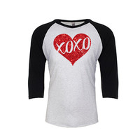 XOXO Heart Valentine's Day Raglan
