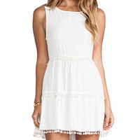 For Love & Lemons Chica Mini Dress in White