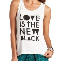 EMBELLISHED LOVE GRAPHIC TANK