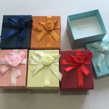 New Ring Jewlery Box various colors blue , red , pink , yellow