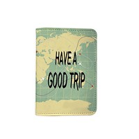 Have A Good Trip Customized Cute Leather Passport Holder - Passport Covers - Passport Wallet_SUPERTRAMPshop