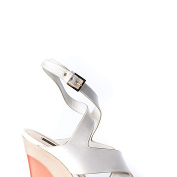 ca spbest Louis Vuitton Satin Wedge Sandals
