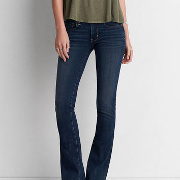 AEO Denim X4 Skinny Kick Jean, Dark Atlantic
