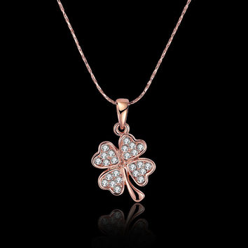 Shiny Stylish New Arrival Gift Leaf Diamonds Hot Sale Jewelry Necklace [9036680580]