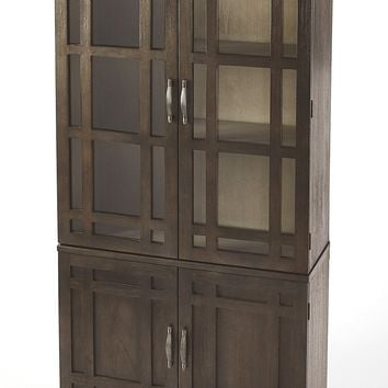 Revival Cocoa Brown Tall Cabinet