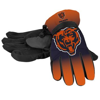 Chicago Bears Official NFL Gradient Big Logo Insulated Gloves