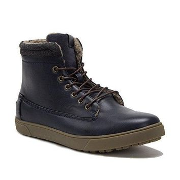 New Men's B-1508 Warm Fur Lined Ankle High Winter Chukka Boots