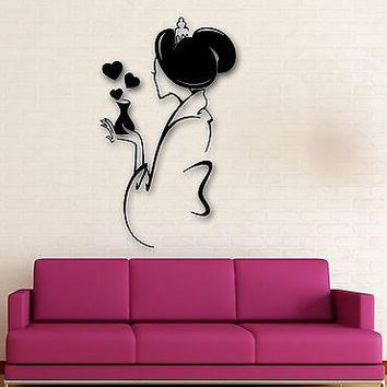 Wall Stickers Vinyl Decal Lovely Geisha Oriental Sexy Woman Girl Love Unique Gift (ig1479)
