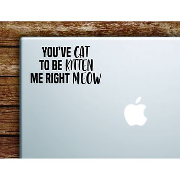 You've Cat To Be Kitten Me Right Meow Laptop Wall Decal Sticker Vinyl Art Quote Macbook Apple Decor Car Window Truck Teen Inspirational Girls Animal Funny