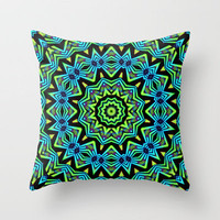 The Tribal Colors Throw Pillow by Lyle Hatch | Society6