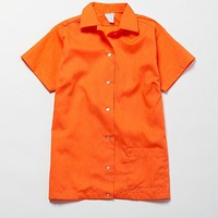 Vintage Orange Short Sleeve Button-Down Shirt | Urban Outfitters
