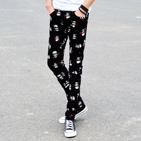 Hot Sale Men Casual Pants Stylish Slim Men's Fashion Skinny Pants [6544569091]