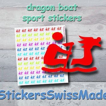 PLANNER STICKERS || dragon boat || water sport || small rainbow colored | sticker for your planner or bullet journal