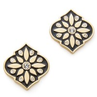 Moroccan Tile Statement Stud Earrings