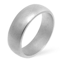 Matte Silver Wedding Band, size : 12
