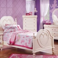 Disney Princess Pearl Twin 3 Pc Panel Bed