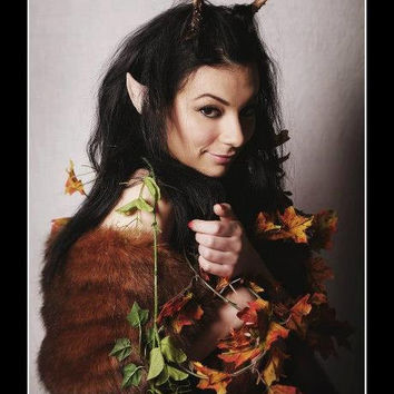 Plain cosplay maenad satyr faun antlers horns headdress head piece