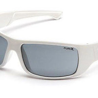 Pyramex Furix Sports Sun Glasses Anti-Fog White Frame Polycarbonate Lens Eyewear