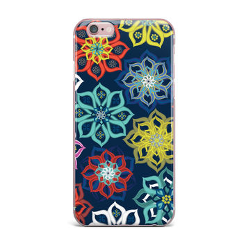 "Jolene Heckman ""Multi Flower"" Rainbow Flowers iPhone Case"