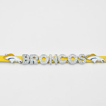 New Style Denver Broncos Football Team 8mm Silde charms Leather Bracelet 2018 Best Gift Fans Jewelry