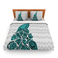 "Brienne Jepkema ""Peacock Blue"" Lightweight Duvet Cover"