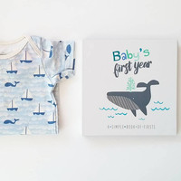 Little Sailor Gift Set: Baby Book & Onesuit