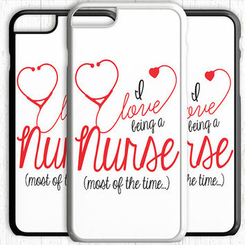 Nurse Love iPhone 5C 6 Plus Case iPhone 5s 4 case Ipod Tough Cover Stethoscope Love Being a Nurse Heart Quote Gift Ipod 4 5 6 Case