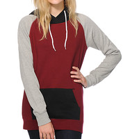 Zine Clarissa Blackberry & Black Colorblock Hoodie