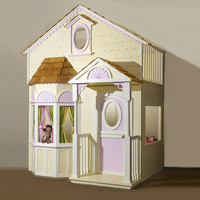 Victorian Playhouse Loft Bed : Luxury Playhouses at PoshTots