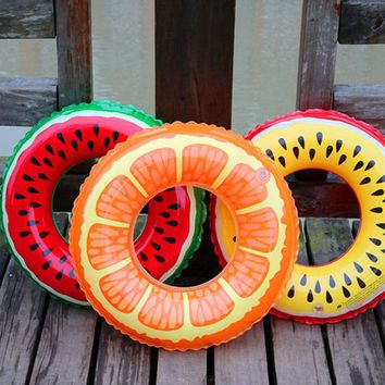 Hot Fruit Circles For Swiming Inflatable Children's Pool Accessories Swim Ring For Children Summer Swim Pool Toys