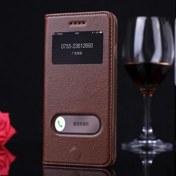 For iphone 6 Case S Plus Flip Luxury Leather Phone Protective Brown Cover for Apple iphone 6s 6 Plus Cases Accessories Coque New