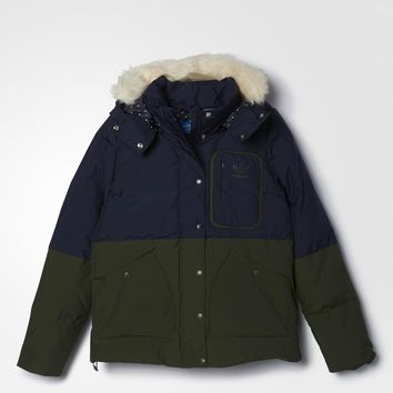 adidas Patchwork Down Jacket - Blue | adidas US