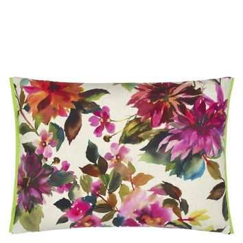 Designers Guild Manchu Outdoor Fuchsia Decorative Pillow