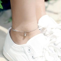 Classic Trendy Bell Anklets For Wo 925 Sterling Silver Party Wedding Nice Gift Fashion Jewelry Romantic Bracelets Brand Style  Ship