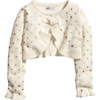 H&M - Fine-knit Bolero - Natural white - Kids
